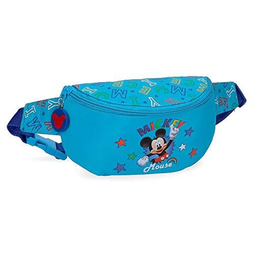 Disney Riñonera Mickey Stars, Azul, 34x13x7 cm