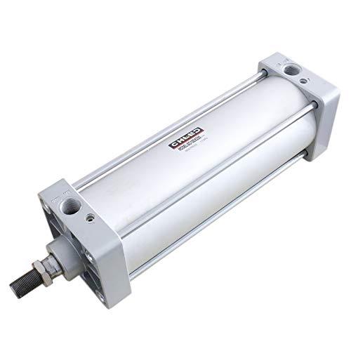 Woljay Cilindro de aire neumático SC 100 x 250 PT 1/2 Vástago de pistón atornillado Diámetro de doble acción: 100 mm Carrera: 250 mm