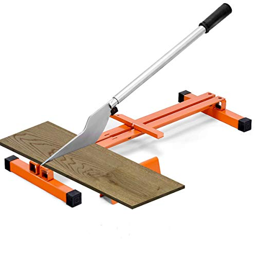 Goplus Vinyl Floor Cutter, Laminate Flooring Cutter for 8-inch & 12-inch Wide Floor, Hand Tool V-Support Wood Planks Heavy Duty Steel Quick Cut