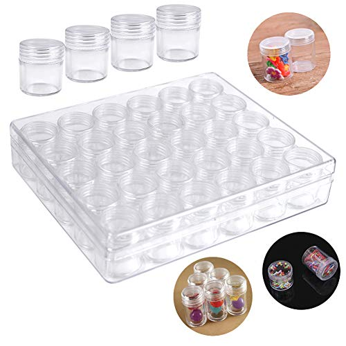 Embroidery Diamond Storage Box Storage Boxes for Diamond Painting Small Beads Diamond Painting Storage Containers with Lid for Jewelry DIY Art Craft Rhinestones Sewing