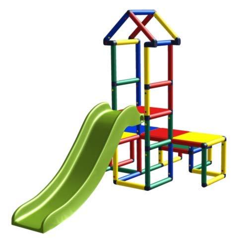 move and stic - Rutschenturm Alibaba Spielhaus mit Rutsche für Kinderzimmer oder Garten