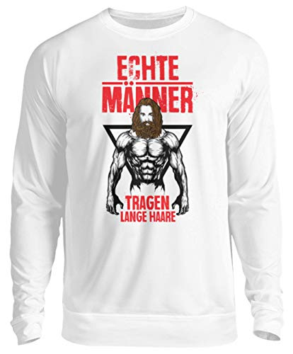 Generisch Männer Langhaarfrisur Bart Sweatshirt | Lange Haare Zopf Cool Unisex Pullover