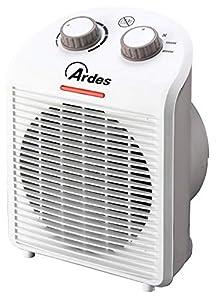 Ardes AR4F01N Termoventilatore TEPO DESIGN con 2 Potenze, Termostato Temperatura, Spia Funzionamento e Impugnatura Posteriore, Bianco