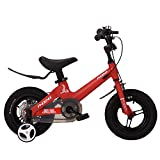 FUFU 12/14/16/18 Pulgadas, for niños Bicicleta con Pedales for niños y niñas, extraíble Ruedas de Entrenamiento, Frenos (Color : Red, Size : 16in)