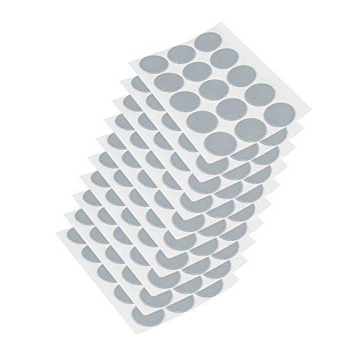 EMUCA 4026621 Tapa embellecedora Adhesiva, Ø20mm, Gris, Lote de 150