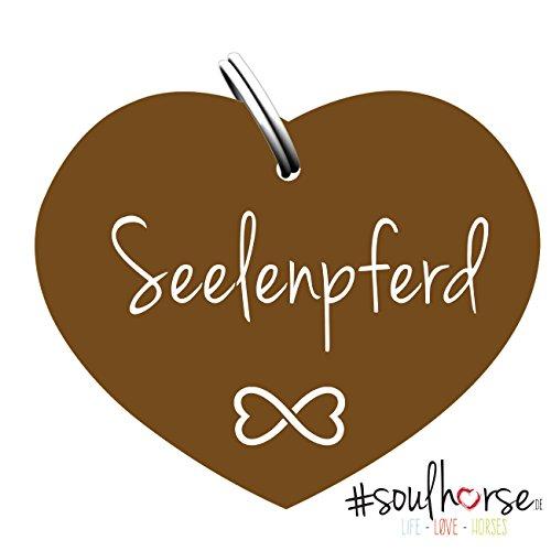 Soulhorse Seelenpferd Bronze Kleiner Glücksbringer Marke Anhänger für Pferdezubehör Halfter Trense Zaumzeug Sattel Vorderzeug