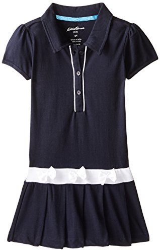 Eddie Bauer Girls' Dress Or Jumper (More Styles Available), Navy with White, 4