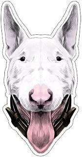 Bull terrier portrait Vinyl Bumper Sticker Decal Dog Family Love Pet
