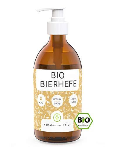 Bio Bierhefe für Hunde - 500ml flüssige Bierhefe mit Vitamin B - Natürliche Haut- und Fellpflege aus kontrolliert biologischem Anbau, DE-ÖKO-060