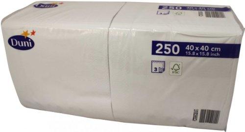 Duni 250 Zelltuch Servietten Weiß 40cm x 40cm