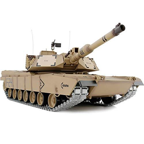 1/16 2.4ghz Remote Control US M1A2 Abrams Tank Model(360-Degree Rotating Turret)(Steel Gear Gearbox)(3800mah Battery)(Metal Tracks &Sprocket Wheel & Idle Wheel)