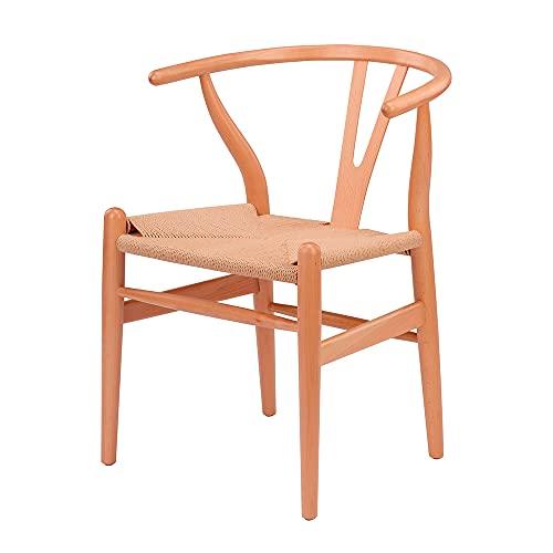 EME – Sedia da sala da pranzo Bone legno stile nordico Y – legno di faggio con finitura naturale...