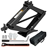 IMAYCC Effortless Scissor Jack for Car/SUV/MPV -Thickened Max 3.0 Ton (6614 lbs) Car Jacks with Hand Crank Trolley Lifter , Portable Emergency Car Jack Kit with Wheel Wrench.