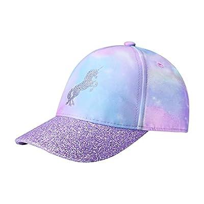 accsa Gorro de Unicornio para Niñas Ajustable Gorra para el Sol Sombrero de Béisbol con Arcoíris y Tie-Dye 3-9 años