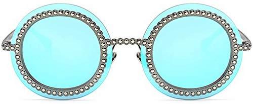 AQWESD Gafas de Sol antideslumbrantes, Sunglass Fashion UV400 Protección Viajar al Aire Libre Conducción Estilo Retro Steampunk Decoración de Primavera Gafas de Sol Redondas