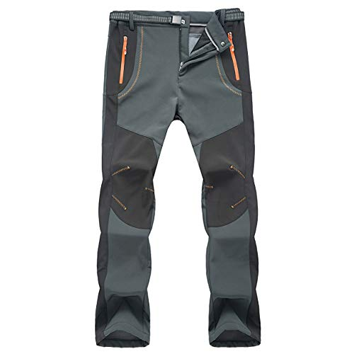 Pantaloni Funzionali Softshell Invernali da Uomo Slim Fit Impermeabili e Traspiranti per Trekking e Sport all'aperto