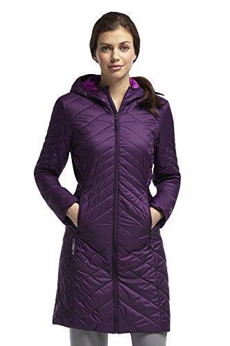 Icebreaker Damen Jacke Softshell Mantel Helix 3Q Jacket, Vino/Vivid/Vino, XS