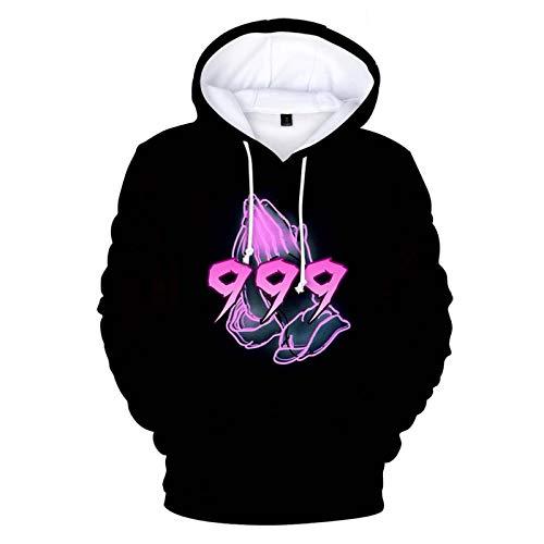ZYYQSL Sudadera con Capucha Hip-Hop para Hombre Juice Wrld Printed Sweatshirit Moda Suelta Casual Sport Funny Hoody Tops Street Style Sportswear