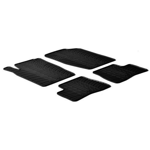 Set tapis de caoutchouc compatible avec Peugeot 206 3/5-portes/SW/206+ 1998- (T profil 4-pièces)
