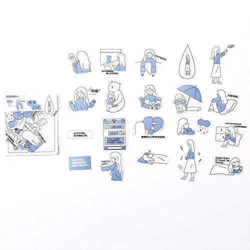 BLOUR 40 unids/Pack Salt Life Serie de Personas pequeñas Pegatinas Decorativas Scrapbooking Stick Label Diario papelería álbum Pegatinas Kawaii