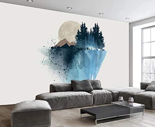 Papel Pintado Pared 3D Pico De La Montaña Sol Abstracto Moderno Dormitorio Salon Decoracion murales
