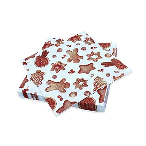 Le Nappage - Servilletas decoradas con delicias navideñas - Servilletas de papel...
