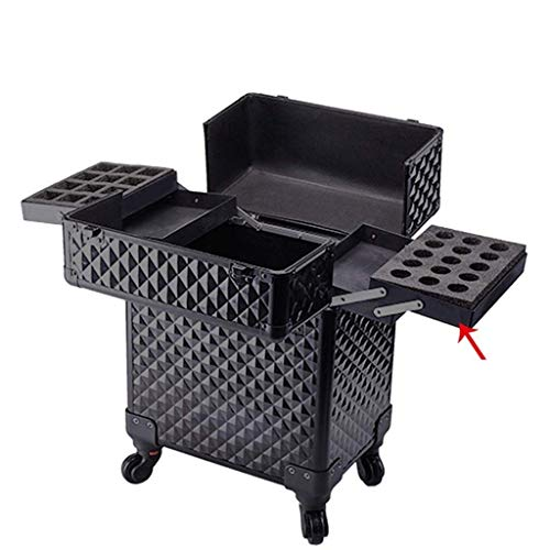 Tokyia With Makeup Suitcase Universal Wheel Large Capacity Multi-layer Makeup Makeup Trolley Case Compartment Trolley (Size : 34 * 24 * 52cm) Transportation