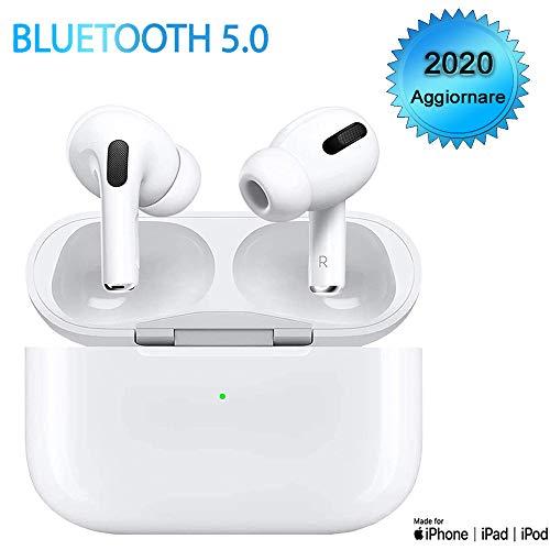 Auricolari Bluetooth 5.0 Cuffie Bluetooth Senza Fili Cuffie Sportive Riduzione del rumore Auricolari wireless Scatola di Ricarica Stereo 3D HD Microfoni Per iPhone/Huawei/Airpods/Andriod