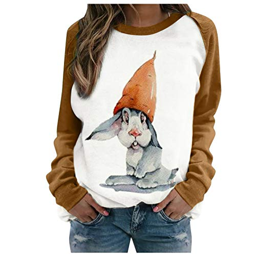 Winter Tops Casuales para Mujer Sudadera con Animal Print de Dibujos Animados Color de Contrast Moda Casual...