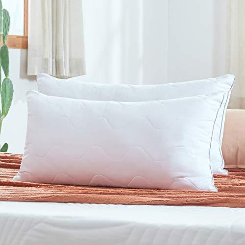 Sweetnight Almohada, Blanco, 2er Set 40 x 80 cm
