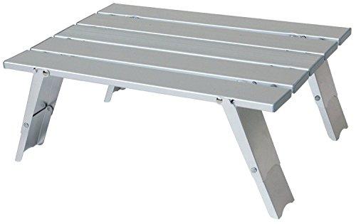 Mochila de mesa de aluminio plateado para camping, jardín, hogar, familia
