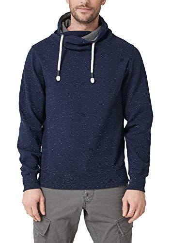 s.Oliver Herren 13.812.41.3457 Sweatshirt, Blau (Midnight Melange 57w0), Medium