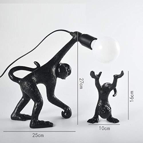 PZAIQ Statues Décoratives Résine Mignon Vilain Singes Lampe De Table Moderne LED Maison Loft Chambre Chevet Décor À La Maison Bureau Lumière