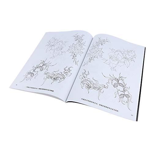 B Baosity 40 Seiten Tattoo Vorlagen Buch Blumen Muster Tattoo Buch