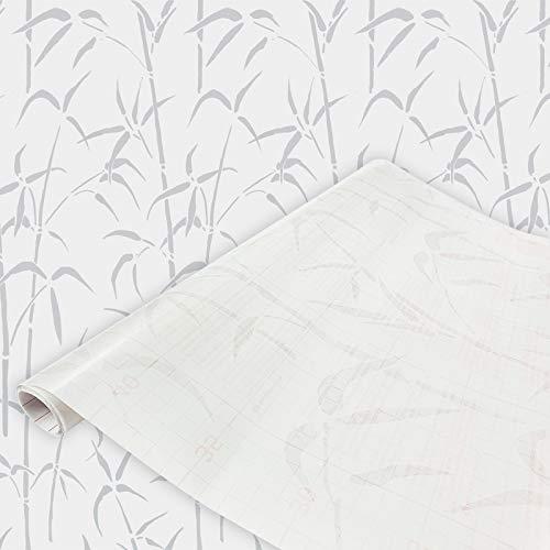 DecoMeister Klebefolien Fensterfolien Deko-Folien Fensterdekor Selbstklebefolie Fensterfolie Selbstklebend 67,5x200 cm Bambus