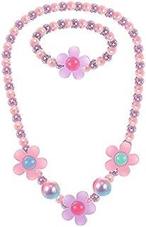 Little Girls Jewelry Sets: Lovely Beaded Necklace & Bracelet Sets, Princess Necklace Bracelet Set for Girls, Beaded Jewelr...