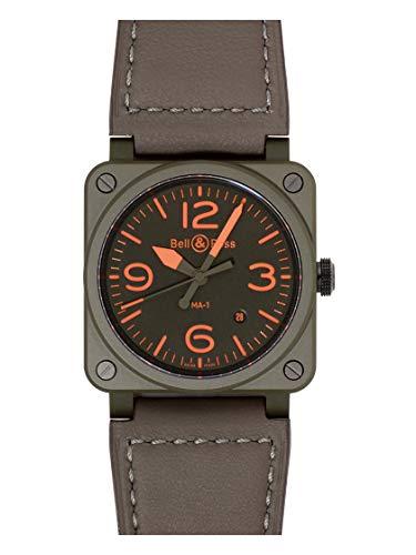 [ベル&ロス]BELL&ROSS 腕時計 BR0392-KAO-CE/SCA BR 03-92 MA-1 マットカーキセラミック リバーシブル 新品...