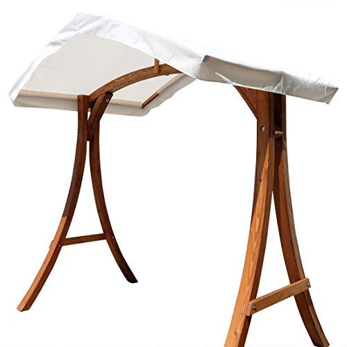 ASS Holzgestell Gestell für Hollywoodschaukel Hollywoodschaukelgestell KUREDO Aruba aus Holz Lärche mit Dach für innen und außen