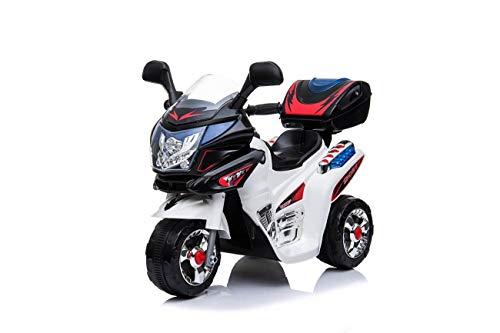 Toyas Kindermotorrad Kinder Elektro Dreirad Polizei Motorrad Fahrzeug Elektromotorrad Elektrokindermotorrad Kinderfahrzeug Musik Sound Sirene Licht Weiss 183099