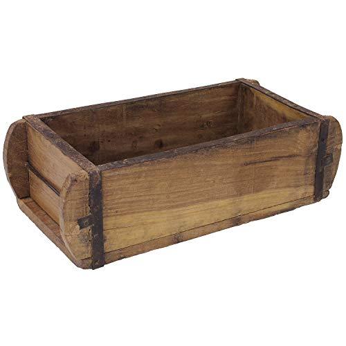 MACOSA TM16460 - Caja de madera maciza con forma de molde de ladrillos, 32 x 15 cm, accesorio para el hogar