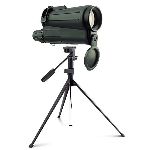 XUMENG Telescopio Terrestre Potente 20-50X50 Monocular Zoom De Alta Definición Resistente Al Agua Portátil Spotting Scope con Bolso De Mano Y Trípode para Tiro con Arco Camping Birdwatching Caza