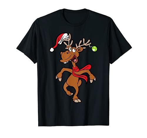 Lustiges Rentier Rudolf Weihnachten Xmas Weihnachts T-Shirt