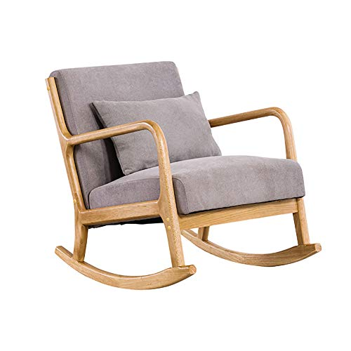 Moderner Schaukelstuhl, Schaukelstuhl Für Den Innenbereich Schaukelstuhl Für Den Innenbereich Einzelsofa-liegestuhl, Sessel Für Den Sitz Zu Hause Bequemer Entspannungs-freizeitstuhl,Creamy White