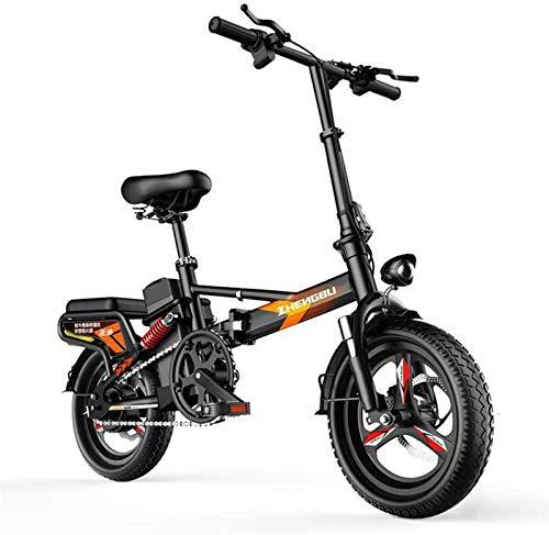 Bicicleta de montaña eléctrica, Bicicleta plegable eléctrica, Ligero 400W plegable eléctrico de pedaleo asistido E-bicicleta portátil bicicletas plegables con pantalla electrónica, for hombres y mujer