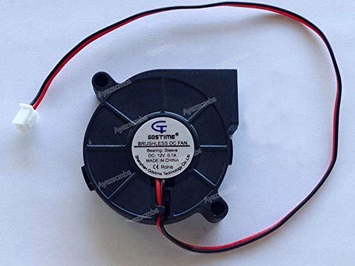 Ayazscmbs 3PCS Compatible para 12V 50mm Blower Ventilador 5015 50mm x 15mm Turbo enfriamiento 3D Printer Rep Rap 2pin