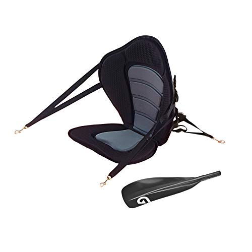 Glory Boards ® Kajak Sitz Set inkl. Paddelblatt – Zubehör für Stand up Paddle Boards mit Kajakfunktion – Alu-Paddel als Doppelpaddel – schnell und einfach montiert – leicht und kompakt