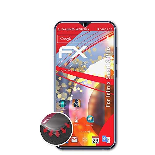 atFoliX Anti-Choque Lámina Protectora de Pantalla Compatible con Infinix Smart 3 Plus Antichoque Película Protectora, antirreflectante y Flexible FX Película Protectora (3X)