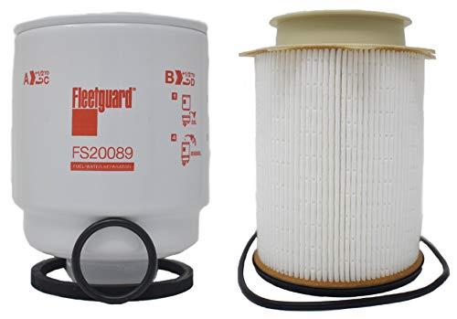 Buyer$ Lair Kit - Compatible with Dodge Ram 6.7L Diesel Cummins Fleetguard Fuel Filter Water Separator Set FS53000 & FS20089 for 2013-2018 Models 2500 3500 4500 5500