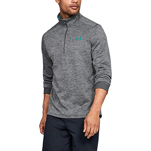 Under Armour Men's Armour Fleece 1/2 Zip , Pitch Gray (012)/Teal Rush , XX-Large