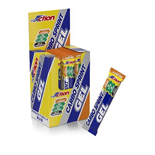 ProAction Carbo Sprint Gel (agrumi, confezione da 25 stick da 25 ml)